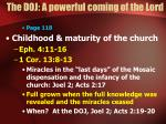the doj a powerful coming of the lord