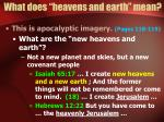 what does heavens and earth mean15