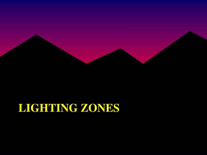 Lighting zones