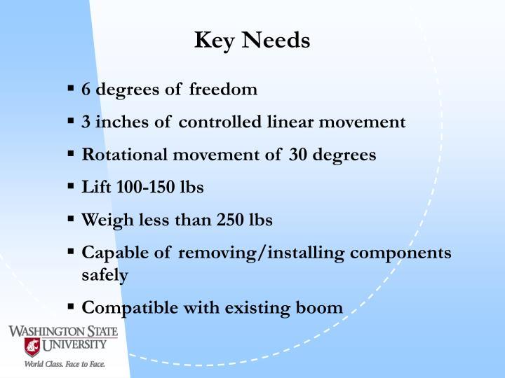 Key Needs