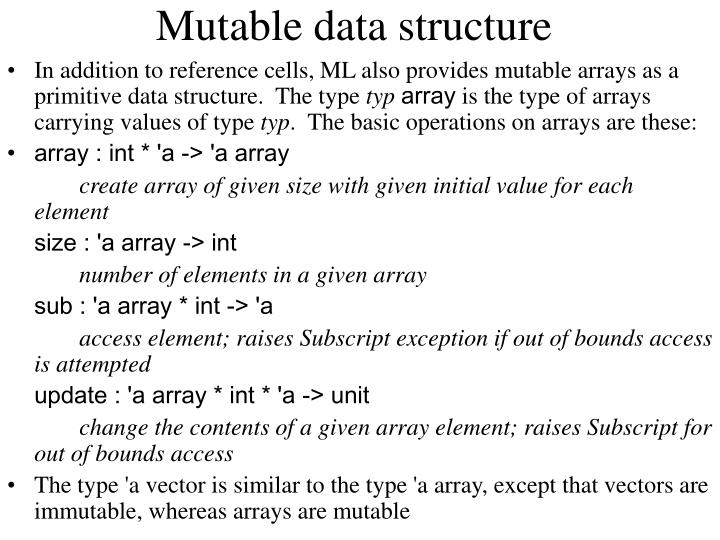 Mutable data structure