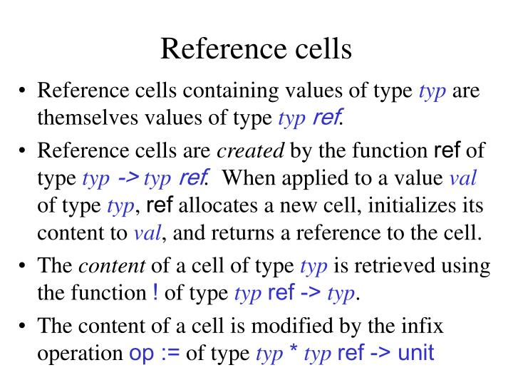 Reference cells