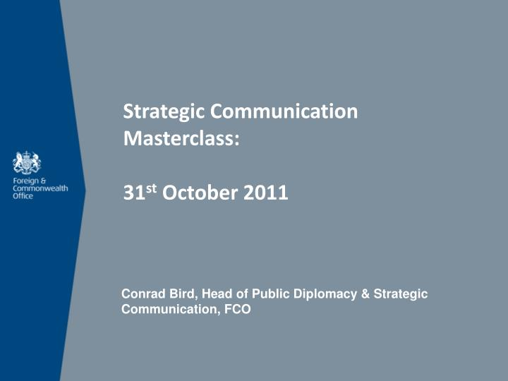 Strategic Communication Masterclass: