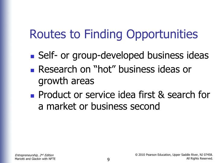 Routes to Finding Opportunities