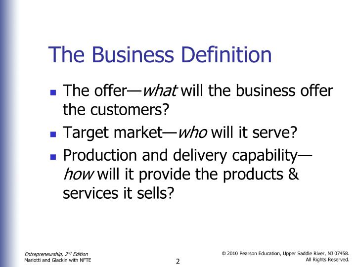 The business definition