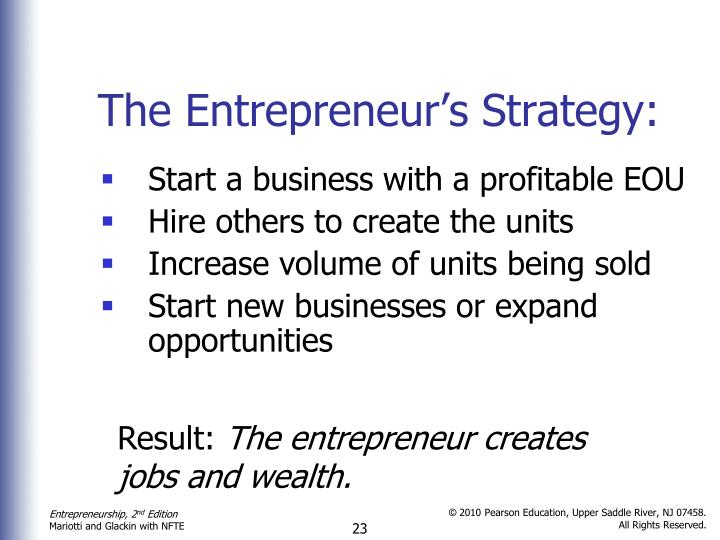 The Entrepreneur's Strategy: