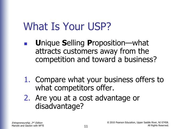 What Is Your USP?