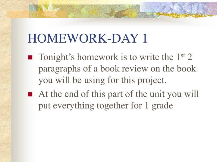 HOMEWORK-DAY 1
