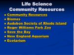 life science community resources