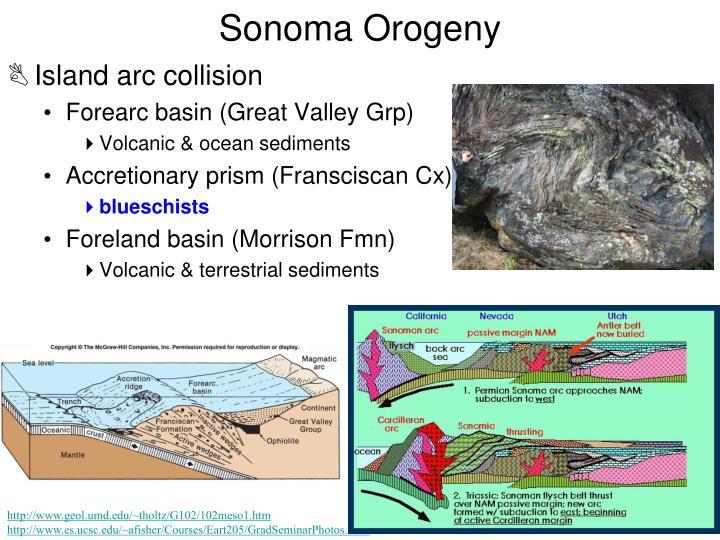Sonoma orogeny