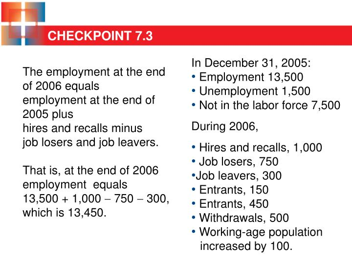 The employment at the end of 2006 equals