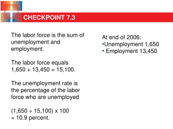 The labor force is the sum of unemployment and employment.