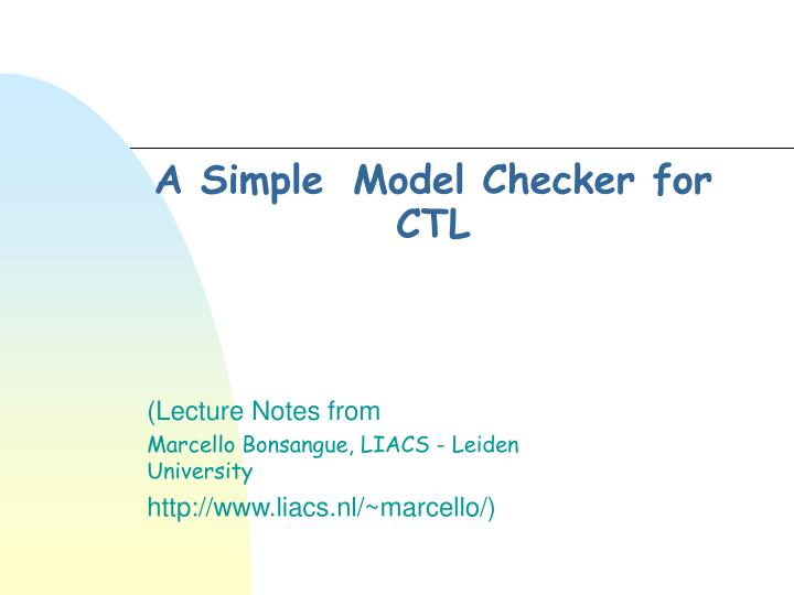 A simple model checker for ctl