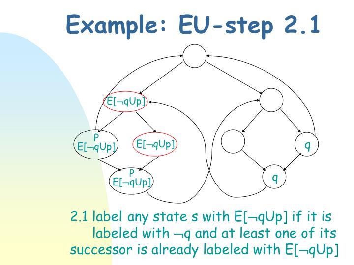 Example: EU-step 2.1
