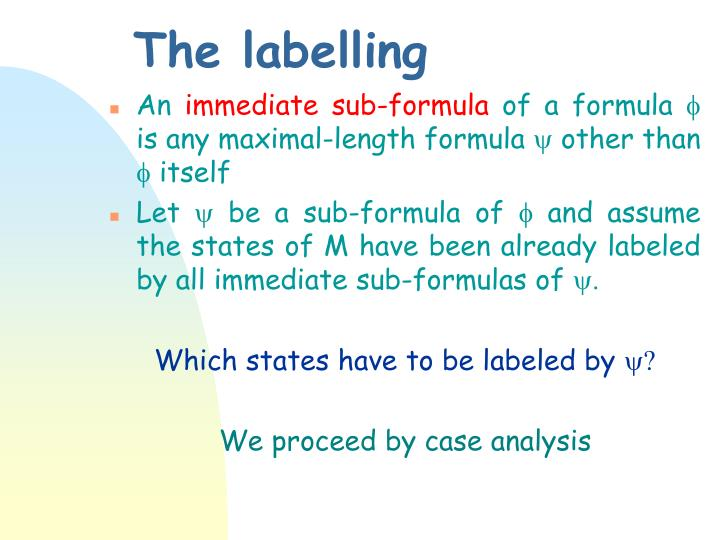 The labelling