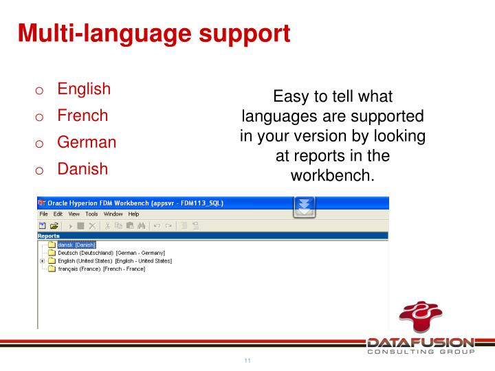 Multi-language support