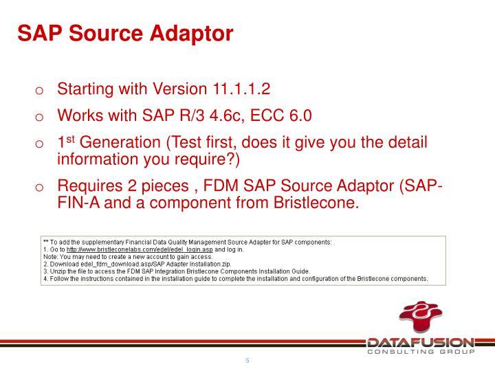 SAP Source Adaptor