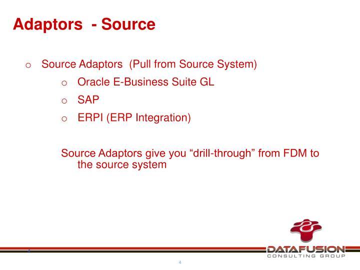 Adaptors  - Source