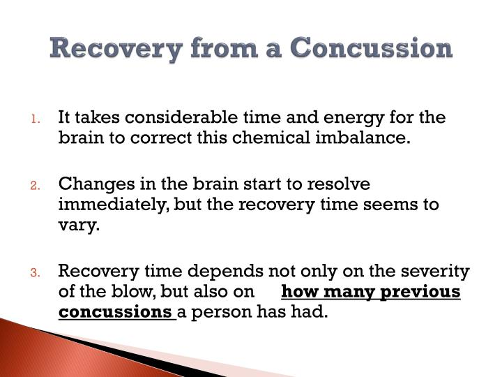 Recovery from a Concussion
