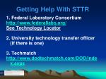 getting help with sttr