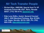 nv tech transfer people