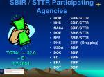 sbir sttr participating agencies