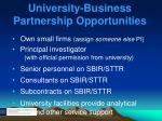 university business partnership opportunities