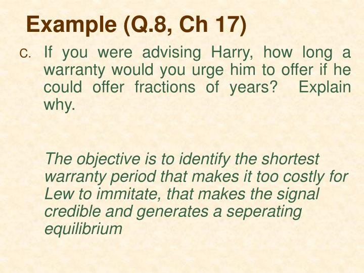 Example (Q.8, Ch 17)