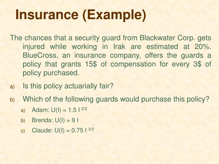 Insurance (Example)