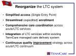 reorganize the ltc system