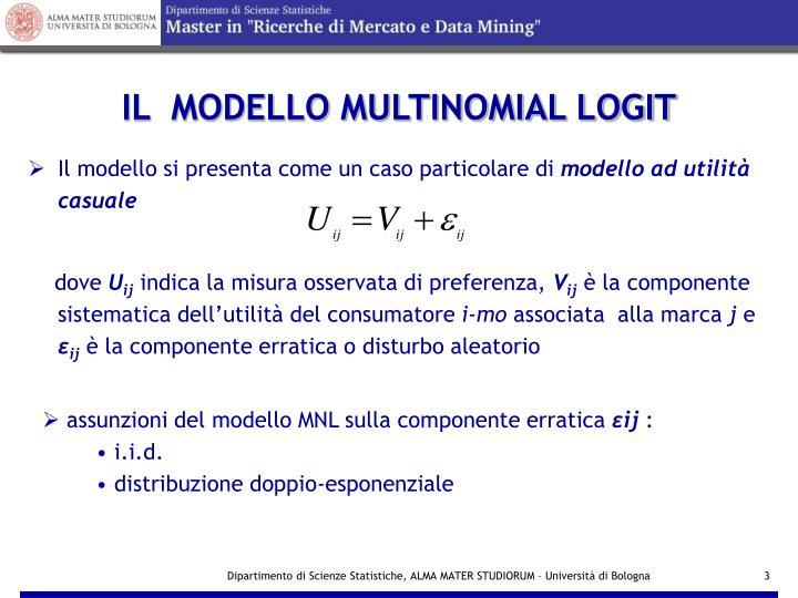Il modello multinomial logit