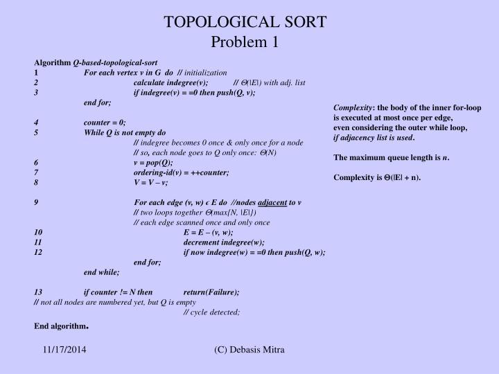 TOPOLOGICAL SORT