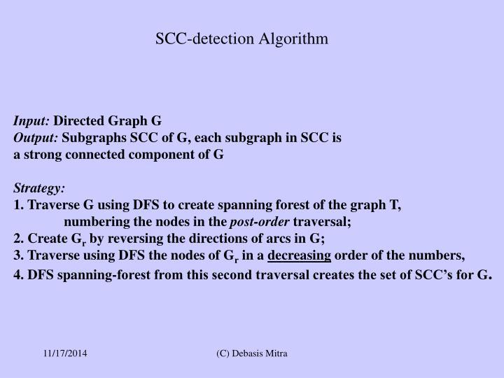 SCC-detection Algorithm
