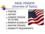 basic pension overview of topics