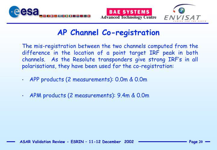 AP Channel Co-registration