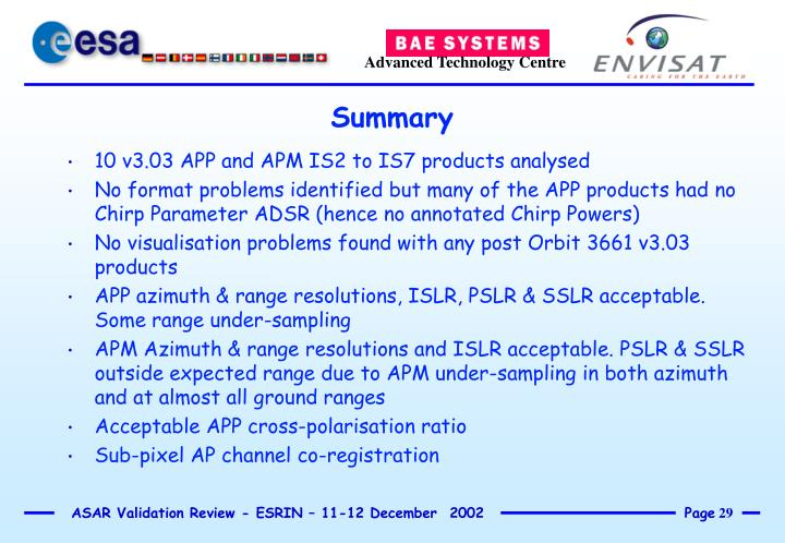 10 v3.03 APP and APM IS2 to IS7 products analysed