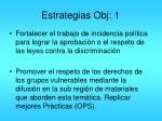 estrategias obj 1