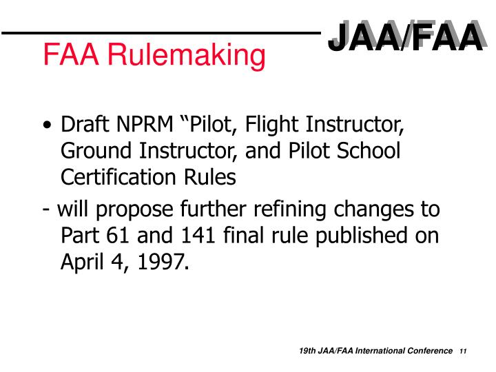 FAA Rulemaking