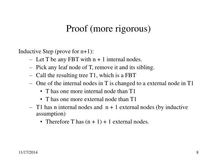 Proof (more rigorous)