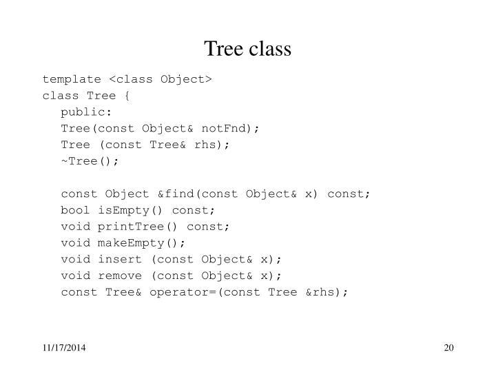 Tree class
