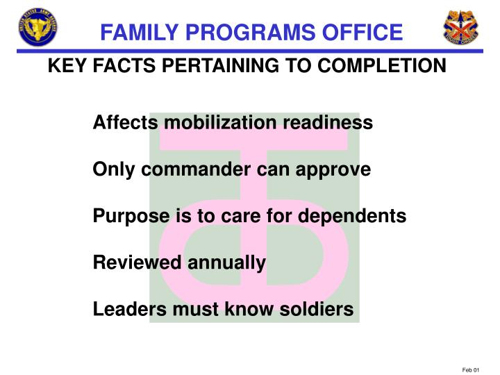 KEY FACTS PERTAINING TO COMPLETION