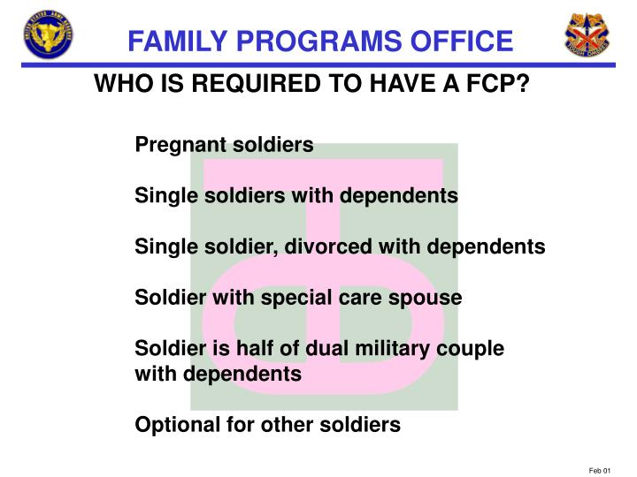 WHO IS REQUIRED TO HAVE A FCP?