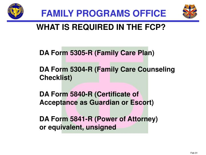 WHAT IS REQUIRED IN THE FCP?