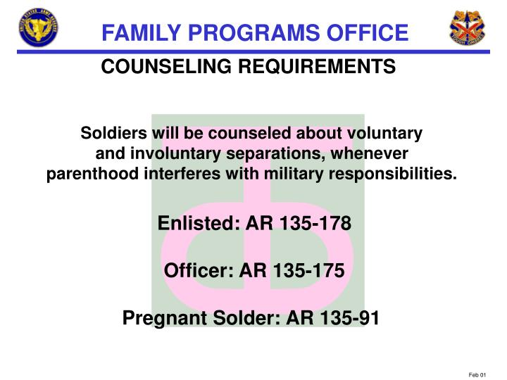COUNSELING REQUIREMENTS