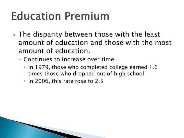 Education Premium