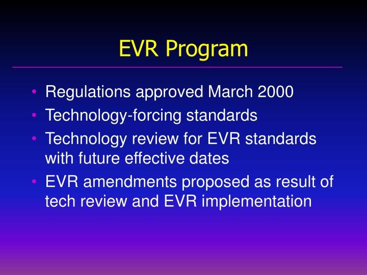 EVR Program