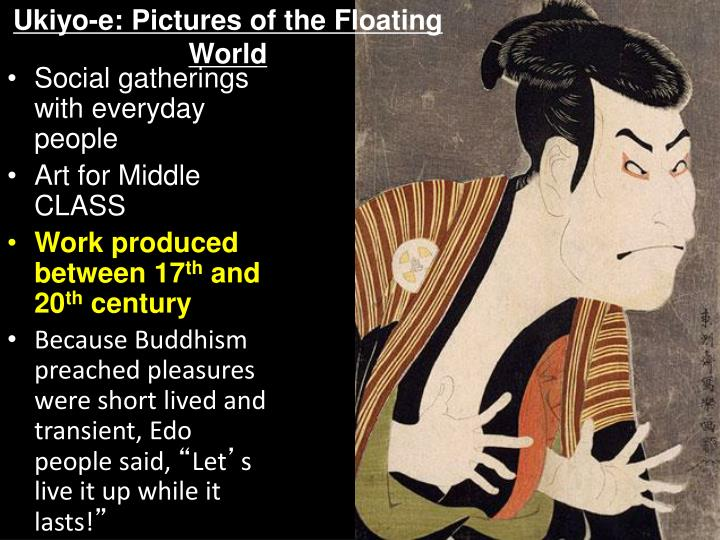 Ukiyo e pictures of the floating world