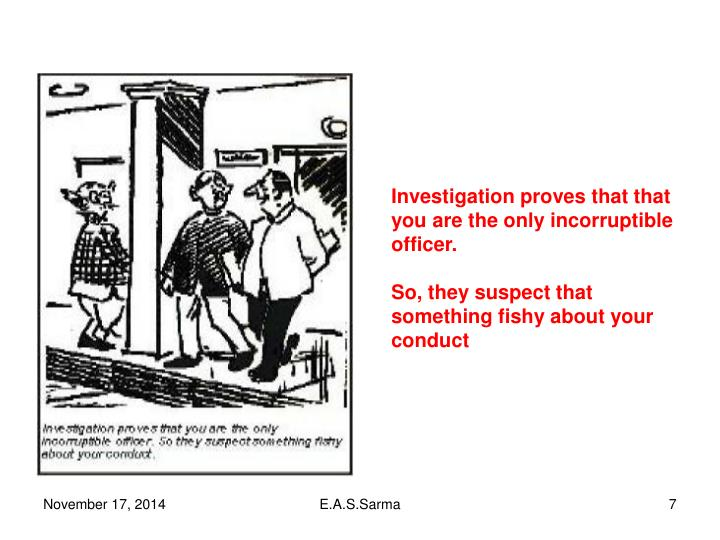 Investigation proves that that