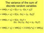 the variance of the sum of discrete random variables