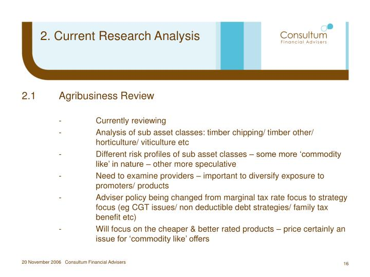 2. Current Research Analysis